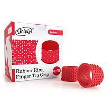 Tippi Micro Gel Grips Size Chart Griply Rubber Finger Tips Hand Grips Rubber Tip Finger