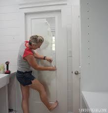 the mirrored pocket door a jack and jill bathroom update