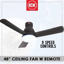 kdk u48fp ceiling fan 9 sd controls wireless remote control on off timer