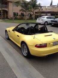 2000 Yellow BMW M3 Roadster