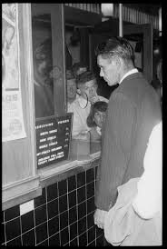 """Ted Fields buys a ticket to the """"white only"""" section of the Luxury Theatre,  Walgett 