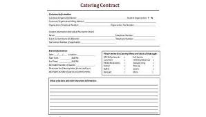 Catering Contract Samples Free 7 Catering Contract Form Samples In Pdf Word