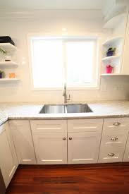 kitchen sink in front of window