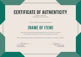 Sample Of Certificate Of Authenticity For Artwork Best Of