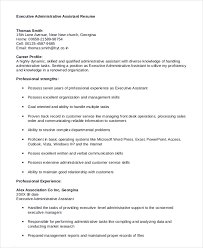 executive administrative assistant resume sample sample executive administrative assistant resume