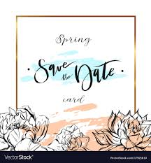 Save The Date Cards Template Save The Date Cards Wedding Invitation With Hand