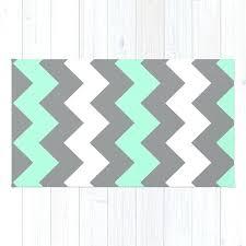 mint white grey chevron rug and 5x7