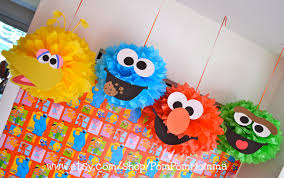 Sesame Street Bedroom Decorations Sesame Street Inspired Party Poms