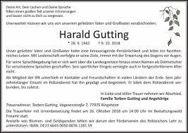 Harald Gutting Trauer Traueranzeigen Nachrufe Badische