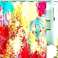 colorful shower curtains bright curtain post multi colored peach fabric curta