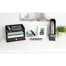 kate and laurel luxe 3 piece acrylic desk organizer set free on orders over 45 com 21224100