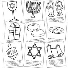 Hanukkah Coloring Pages And Poster Set Jewish Holiday Easy Craft