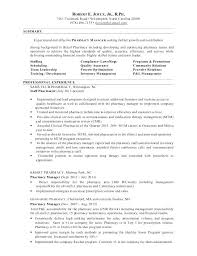 Pharmacy Manager Resume Templates Pharmacist Sample Pharmacy Manager ...