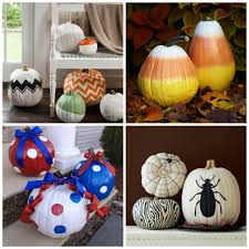 pumpkin decorating ideay curated roundup h20bungalow painted sources chevron candy corn patriotic spider