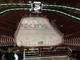 Honda Center Section 423 Row H Seat 9 Anaheim Ducks Vs