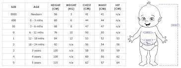 Infant Size Chart Baby Jump Suit
