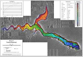 Wizard Lake Depth Chart Travers Reservoir Lake Map