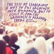 chapter orienting ideas in leadership section servant  blurry image of crowd the text the test of leadership is not to put