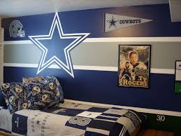 college team colors in the stripes with their logo despise the cowboys but love the idea for an accent wall  on dallas cowboys logo wall art with kids bedrooms pinterest organizing decorating and bedrooms
