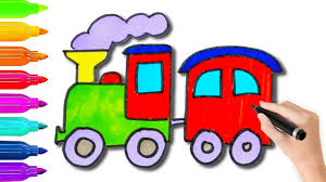 How To Draw Toy Train Coloring Pages L Coloring Book Videos For
