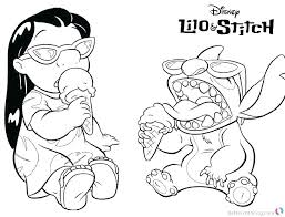 Lilo Coloring Pages Lilo And Stitch Coloring Sheets Pages Enjoying
