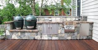 custom outdoor kitchens big green egg kitchen dimensions