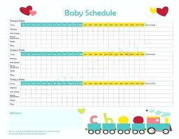 Printable Baby Schedule Chart Baby Routine Template Dietetica Info