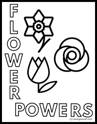 Kids can use all their pens to color in different colors petals, the results are always very cool ! Spring Flowers Coloring Pages Printables Earning And Saving With Sarah