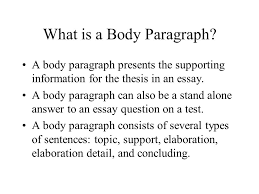 essay structure body what is a body paragraph a body paragraph  2 what is a