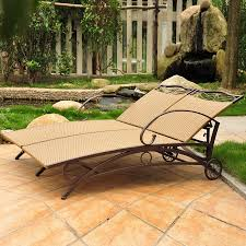 international caravan valencia chaise lounge chair with wicker seat