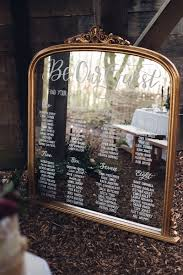 Mirror Table Seating Chart Wedding Seating Chart Mirror Decal Best Picture Of Chart