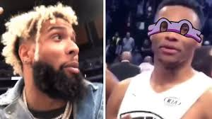:rofl:kids today be like what is a vhs. Odell Beckham Jr Roasts Russell Westbrook Calls Him A Ninja Turtle Youtube
