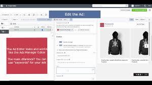Video Create A Facebook Dynamic Ads Template Power Editor