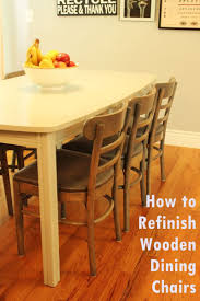 diy refinish wooden dining chairs