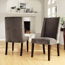 tribecca home ian grey chenille wingback dining chair set of 2 overstock ping great deals on tribecca home dining chairs