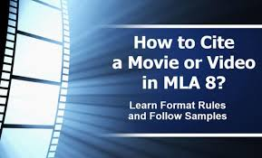 how to cite a or video in mla 8