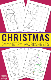Christmas Symmetry Worksheets for Kids - Itsy Bitsy Fun