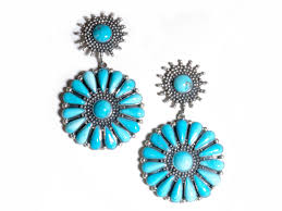 federico sun burst turquoise dangle earrings