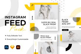 This site is called insta fonts simply because instagram is one of the most widely used social media platforms. Instagram Post Black Friday Template Graphic By Mahative Creative Fabrica
