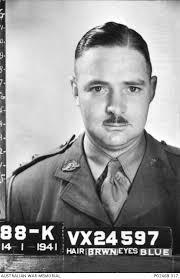 Paybook photograph, taken on enlistment, of VX24597 Captain Lionel Colin  Matthews GC MC, 8th ...   Australian War Memorial
