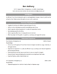 Truck Driver Objective For Resume Cdl Class A Driver Resume Sales Driver Lewesmr 35