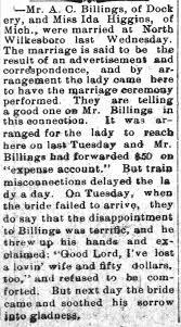 Avery C. Billings & Ida Higgins - Newspapers.com