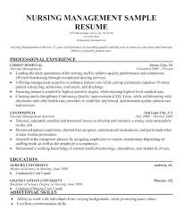 Resume Samples For Nursing Resume Examples For Nurse Manager Resume ...