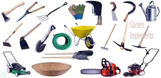 garden tools implements name images