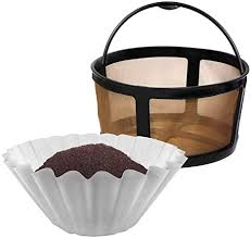 Advantages of a gold coffee filter? Amazon Com Reusable Mesh Ground Coffee Filter Carafe For Keurig K Duo Essentials And K Duo Brewers Machine With 100 Disposable Paper Filters By Purehq Gold Tone Mesh Filter Kitchen Dining