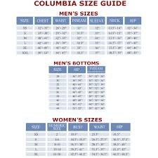 Columbia Sportswear Fit Guide Fitness And Workout