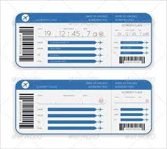 Airline Ticket Template Word Cool 48 Ticket Templates Free Download