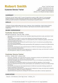 Example Resume For Customer Service Customer Service Trainer Resume Samples Qwikresume