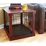 merry products pet cage with crate cover furniture style dog crates
