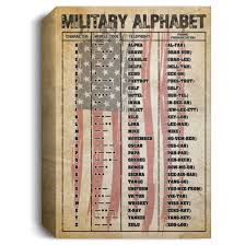 Learn more about this phonetic alphabet by this military alphabet chart! Military Phonetic Alphabet Military Alphabet Morse Gallery Wrapped Framed Canvas Cubebik